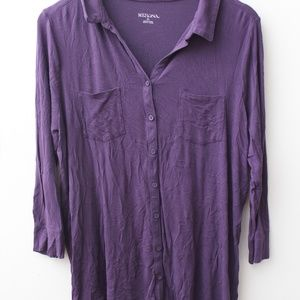 Merona purple button up shirt